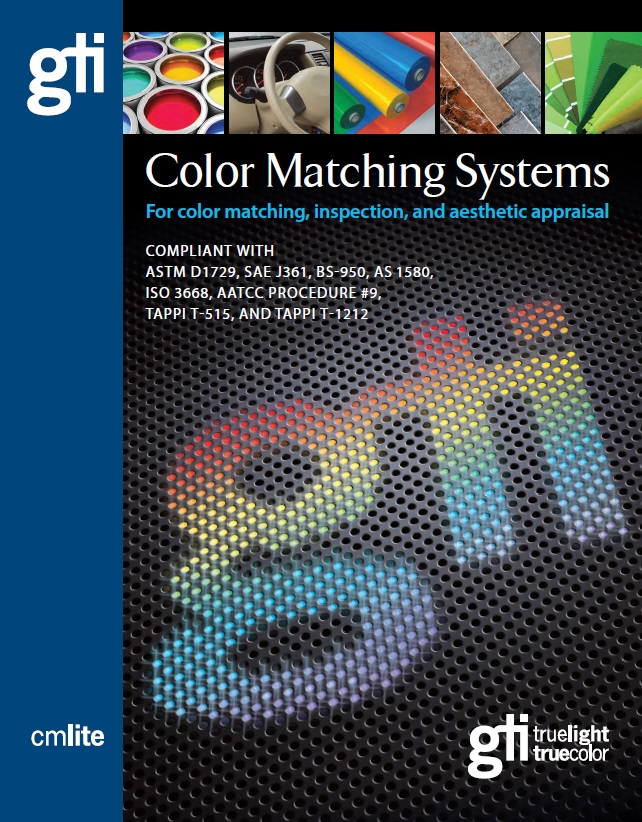 GTI Color Matching Systems Full Line Brochure