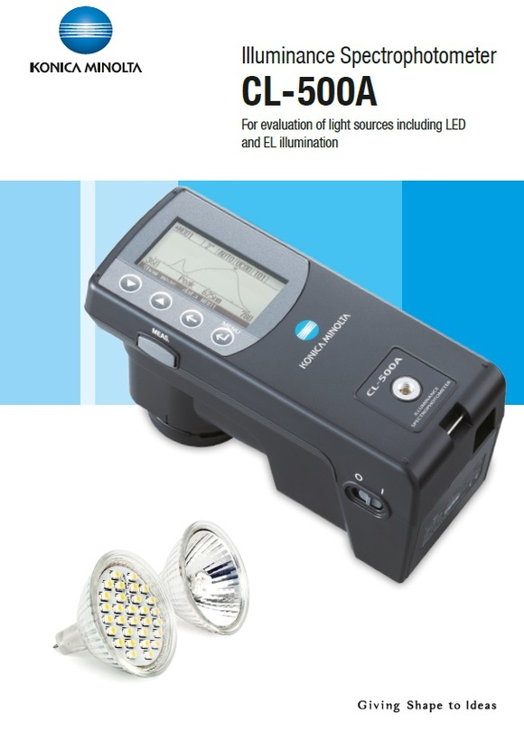 illuminance spectrophotometer cl-500a