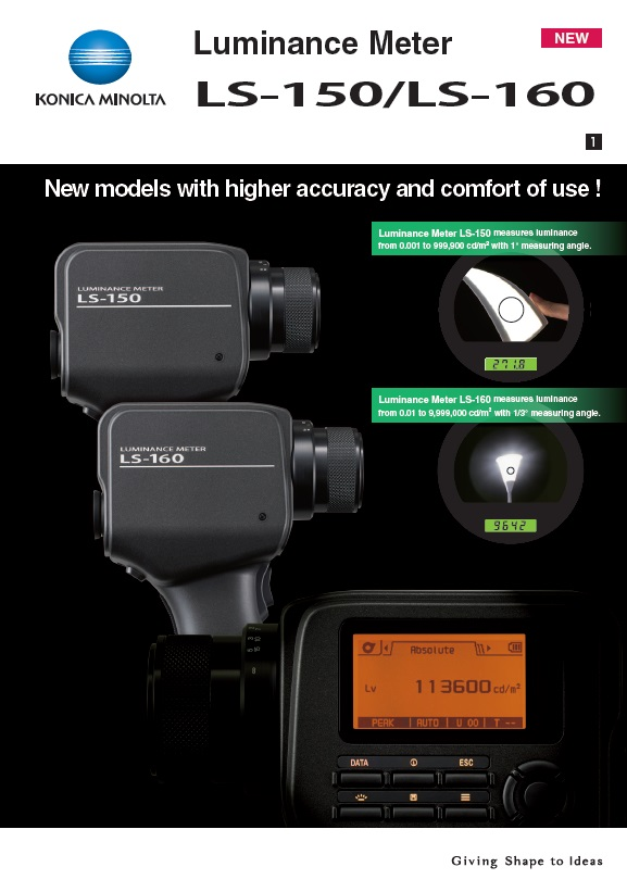 luminance meter ls-150/160