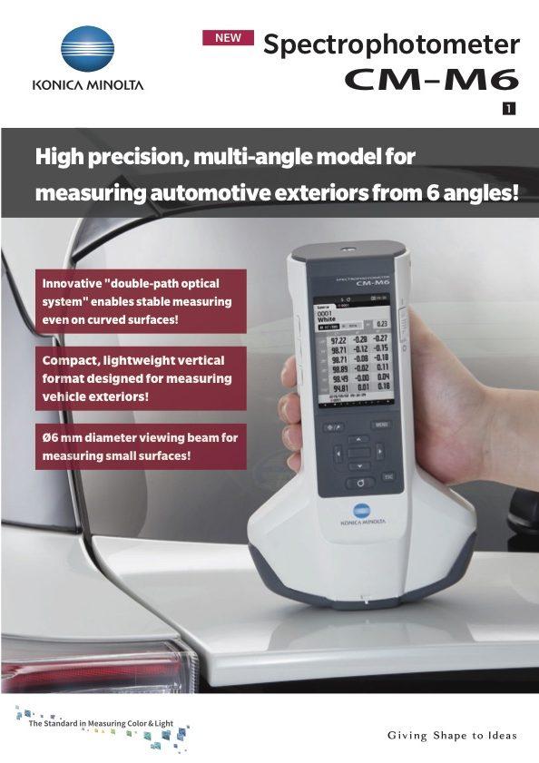 cm-m6 multi-agnle spectrophotometer